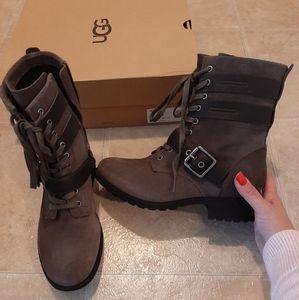 NIB-UGG Zia Lace Up Boots